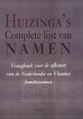 Bekijk details van Huizinga's complete lijst van namen