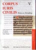 Bekijk details van Corpus juris civilis; V