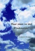 Bekijk details van Waar staan we met windenergie?