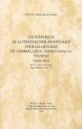 Bekijk details van Les suppliques de la Pénitencerie apostolique pour les diocèses de Cambrai, Liège, Thérouanne et Tournai, (1410-1411)