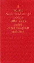Bekijk details van 25 jaar Nederlandstalige poëzie, 1980-2005