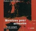 Bekijk details van Meurtres pour mémoire