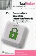 Bekijk details van Betrouwbare en veilige internetinformatie