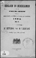 Bekijk details van De bestrijding van de tuberculose onder het rundvee