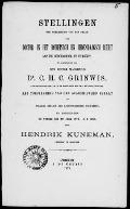 Bekijk details van Stellingen ter verkrijging van den graad van doctor in het Romeinsch en hedendaagsch recht