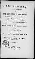 Bekijk details van Stellingen ter verkrijging van den graad van doctor in het Romeinsch en hedendaagsch regt