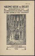 Bekijk details van Beschrijving van de gebrandschilderde ramen in het koor en het transept der Nieuwe Kerk te Delft