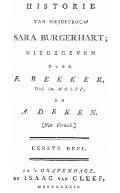 Bekijk details van De historie van mejuffrouw Sara Burgerhart