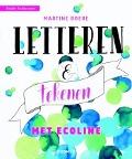 Bekijk details van Letteren & tekenen met ecoline