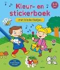 Bekijk details van Kleur- en stickerboek met kinderliedjes
